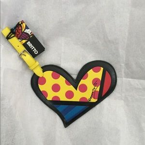 Britto Heart Luggage Tag/Name Card Holder